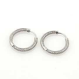 Tiffany & Co. 1ct Diamonds Inside Out 18k White Gold Hoop Earrings