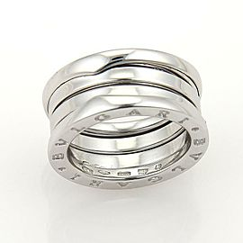 Bvlgari Bulgari B Zero-1 18k White Gold 9mm Wide Band Ring Size 48 -US 4