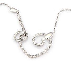 La Nouvelle Bague 18kt White Gold 1.20ct Diamond Open Heart Necklace