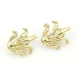 Tiffany & Co. 18kt Yellow Gold Long Leaves Design Stud Earrings
