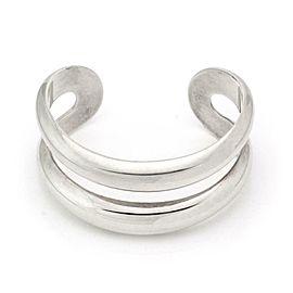 Tiffany & Co. Peretti Sterling Silver Open Center Wide Cuff Bracelet