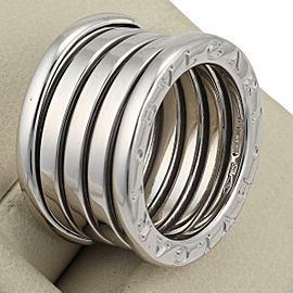 Bvlgari Bulgari B Zero-1 18k White Gold 13mm Band Ring Size EU 50-US 5