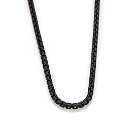 "David Yurman Black Sterling Silver Long Box Link Chain Necklace 72"" Long"