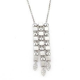 Bvlgari Bulgari LUCEA Diamonds 18k White Gold Long Pendant & Chain Necklace