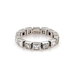 Tiffany & Co. 1.75ct Rose & Princess Cut Diamond 18k WGold Flex Band Ring Size8