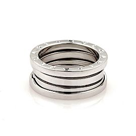 Bvlgari Bulgari B Zero-1 18k White Gold 8mm Band Ring Size 53-US 6.25