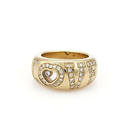 Chopard Happy Diamond 18k Yellow Gold Diamond LOVE Dome Band Ring Sz 6.5