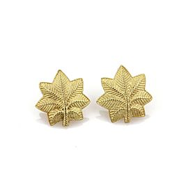 Tiffany & Co. Vintage 18k Yellow Gold Leaf Stud Earrings