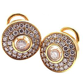 Chopard Happy Diamond 18k Yellow Gold Earrings Certificate