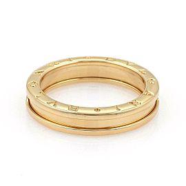 Bvlgari Bulgari B Zero-1 Single 5mm 18k Yellow Gold Band Ring Size 60-US 9.25