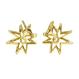 Tiffany & Co.Picasso Sun Star 18k Yellow Gold Post Clip Earrings