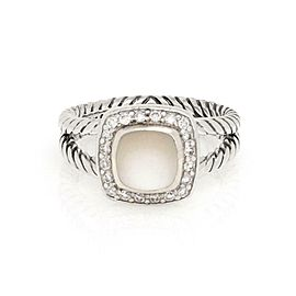 David Yurman Albion Moonstoneis a is an Diamond Sterling Silver Cable Ring