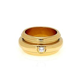 Piaget Diamond 18k Yellow Gold Double Band Spinner Ring Size 54-US 7