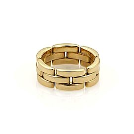 Cartier Maillon Panthere 18kt Yellow Gold 7mm Wide Band Ring EU 54-US 6.5