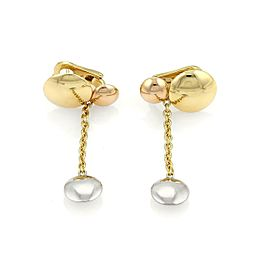 Cartier Sweet Trinity 18k Tricolor Gold Triple Disc Drop Dangle Earrings