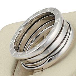 Bvlgari Bulgari B Zero-1 18k White Gold 9mm Band Ring Size 59-US 8.75