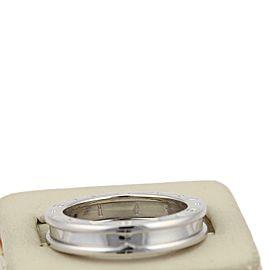 Bvlgari Bulgari B Zero-1 Single 18k White Gold 5mm Band Ring Size EU 64