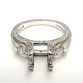 Verragio Platinum Diamond Past Present Future Engagement Ring Setting Size 6.5