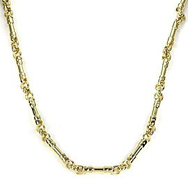 Tiffany & Co. 18k Yellow Gold Fancy Bar Link Necklace