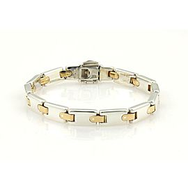 Tiffany & Co. Sterling 18k Yellow Gold H Bar Link Bracelet