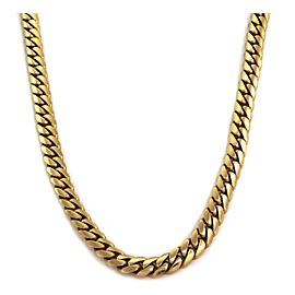 """Classic 14k Yellow Gold 9.2mm Wide Curb Link Chain 24"""" Long 145.6gr!"""