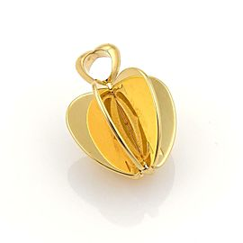 Cartier Double C 18k Yellow Gold 3D Spinner Apple Pendant