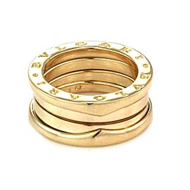 Bvlgari Bulgari B Zero1 18k Yellow Gold 8mm Wide Band Ring Size 47-US 3.75
