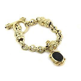 Estate Diamond & Gems Intaglio 14k YGold Convertible Bracelet Cord Necklace