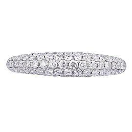 Rachel Koen 18K White Gold 0.83cts Genuine Diamond Pave Ladies Ring Size 6.5