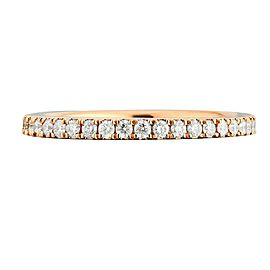 18K Rose Gold 0.43cts Genuine Diamond Pave Ladies Ring Size 6.5