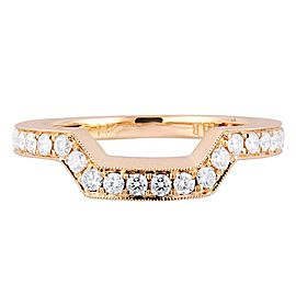 18K Rose Gold 0.75cts Genuine Curved Diamond Pave Ladies Ring Size 6.5