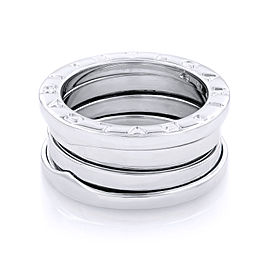 Bvlgari Zero1 3 18K White Gold Band Ring Size 5.75