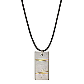 Bliss by Damiani 18K Yellow Gold Stainless Steel Diamond Flash Pendant Necklace