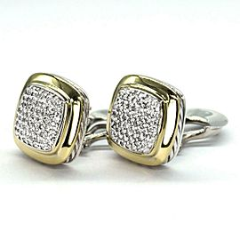 David Yurman Albion1.50ct Diamond Sterling 18k Yellow Gold Earrings