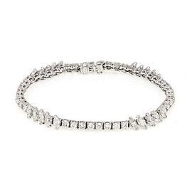 Elegant 8.00ct Diamond 18k White Gold Fancy Tennis Bracelet