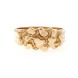 New 14k Yellow Gold Nugget Band Ring Size 8.75