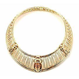 Cartier Scarab 18k Yellow Gold 20.72ct Diamond Collar Necklace