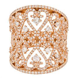 Rachel Koen 18K 750 Rose Gold 1.247ct Diamond Cocktail Band Ring