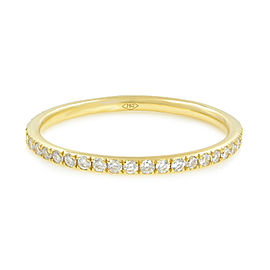Micro Pave Delicate Diamond Eternity Band 18K Yellow Gold 0.39cttw
