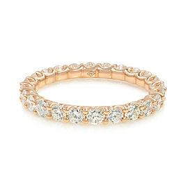 Rachel Koen U-shape Diamond Eternity Band 18K Rose Gold 1.25cttw