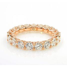 U-shape Diamond Eternity Band 18K Rose Gold 2.85cttw