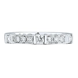 18K White Gold 0.77cts Genuine Diamond Pave Ladies Ring Size 6.5