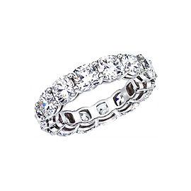 Rachel Koen Platinum Cushion Cut Diamond Eternity Band 7.65cts