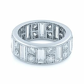 Rachel Koen Platinum Baguette & Round Diamonds Eternity Band Size 5.75 4.00cts