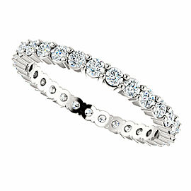 Rachel Koen 14K White 5/8 CTW Diamond Eternity Band Size 6.5