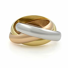 Cartier Trinity 18k White Yellow and Pink Gold Classic Band Ring SZ 4.5