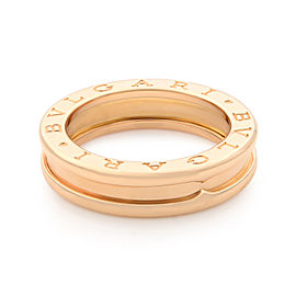Bvlgari B.Zero1 18k Rose Gold Band Size 51 Us 5.75