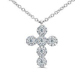 Rachel Koen Diamond Cross Pendant 0.25CT 14K White Gold