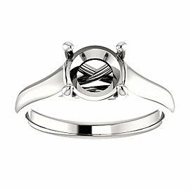 Rachel Koen Platinum Cathedral Engagement Ring Mounting Size 6.5