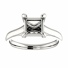 Rachel Koen Princess Cut Prong Solitaire Engagement Ring Mounting 14K Gold 6.5
